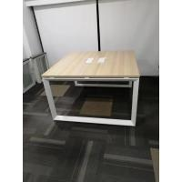 Buy cheap Two person face to face office desk workstation with wooden cabinet product