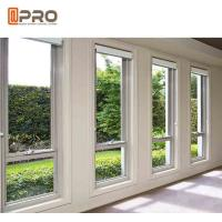 Buy cheap Small Aluminium Awning Windows Horizontal Opening Pattern Electrophoresis glass awning window with grill product