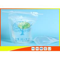 Buy cheap Zip Lock Pouch Bags Stand Up Ziplock Bags , Printed Juice Pouches With Hanging Holes product