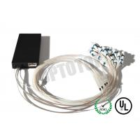 Buy cheap High Uniformity 1X32 ABS Fiber Optic PLC Splitter 0.9mm 2m For FTTH / CATV / Telecom product
