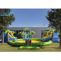 Buy cheap Outdoor Funny Inflatable maga jungle Water Park Bouncer Slide with water pool from wholesalers