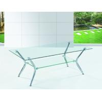 Buy cheap chromed-plated/tempered glass tea table  A036 product