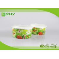 Buy cheap Flexo Printed Logo 20oz 32oz  Paper Salad Containers With 320gsm Cardboard Paper product