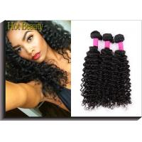 China Deep Curly Unprocessed Human Hair Extensions Clean And Soft Quality 10-30 on sale