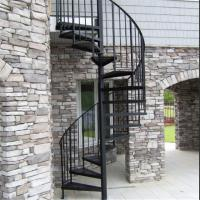 Exterior stainless steel spiral staircase design for Aluminum spiral staircase prices
