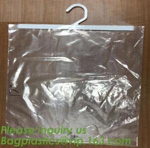 Buy cheap self adhesive zipper hanger hook plastic bags for garment,Type hanger hook plastic bag,zipper bag manufacturers,Hook Zip product