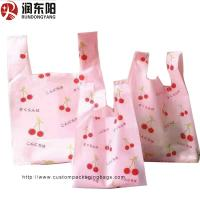 Buy cheap T Shirt Vest Custom Printed Carrier Bags PE Material Moisture Proof Recyclable product