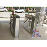 China Full automatic rotating gate tripodHalf Height Turnstiles in universal remote control on sale