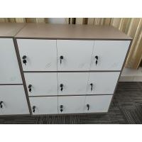 Buy cheap KD structure 9 door metal clothes locker furniture  white coffee color product