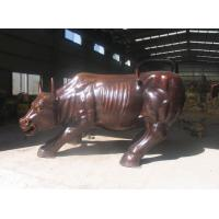 Buy cheap Large Brass Animal Statue Wall Street Bull DL1058 product