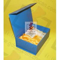 Buy cheap Blue Cardboard custom printed gift boxes Foil Lined Movable Cover product