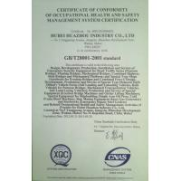 CHINA HARZONE INDUSTRY CORP.,LTD Certifications