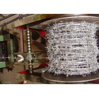 Buy cheap Zinc Plating Barbed Tape Wire , Steel Barbed Wire Roll 1.0-3.5mm Dia product