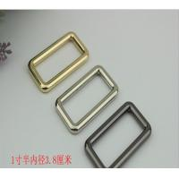 Buy cheap Wholesale manufacturing zinc alloy 11/2 inch gold metal square o ring for handbag hardware and fitting product