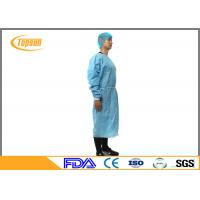 Buy cheap Blue PP Nonwoven Surgical Disposable Medical Gowns With Kniting Cuff product