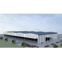 Buy cheap Q235B Structure Frame Buildings With Steel Roof Wall Cladding product