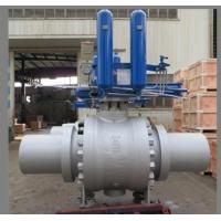 Buy cheap API 6D Trunnion Ball Valves, Gas Over Oil Actuated product