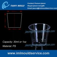 Buy cheap clear small thin wall PS plastic disposable cups mould with 30ml product