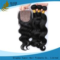 China Remy Virgin Brazilian Hair Body Wave , Permanent Human Clip In Hair Extensions on sale