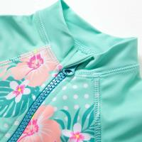 Buy cheap Double Stitched Seams Baby Lycra Swimsuit Flower Tankini With Hat product