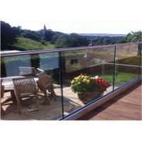 Aluminum External Frameless Glass Balustrade Channel Modern Handrail Design