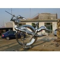 Buy cheap Modern Abstract Stainless steel Figure Sculpture for urban decoration product