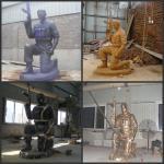 Beautiful Cast Brass Soldier Statue Sculpture