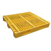Buy cheap Three Runner Single Faced Edge Stackable Plastic Euro Pallet Price product