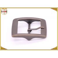 Buy cheap Plain Design Brass Plated Metal Belt Buckle , Central Bar Buckle with Pin product