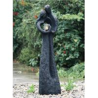 China Cozy Lover Large Outdoor Fountains , Resin Fiberglass Water Fountains 60 Inches wholesale