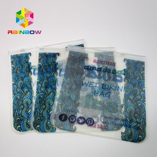 Quality Transparent PVC Bag Bikini Bag ,EVA Plastic Swimwear Bag With Zipper for sale