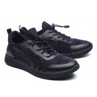 Buy cheap Cool Looking All Black Running Shoes Mens , Supportive Gym Shoes EU 39-46 Size product