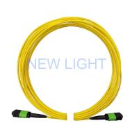 China 2m (6ft) MPO Female Connector Jumper / OS2 24 Core Single Mode Fiber Optic Cable on sale