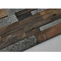 Buy cheap Natural Mosaic Wood Floor Mixed Color , Old Ship Modular Wood Wall Panels product
