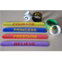 Buy cheap Color ful silicone paipai bangle bracelet silicone slap bracelet with factory price product