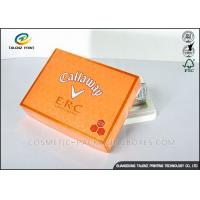 Buy cheap Foldable Orange Cardboard Gift Boxes For Clothes / Candy / Chocolate product