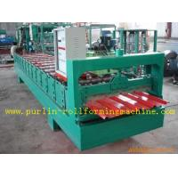 Buy cheap High Speed Glazed Tile Cold Roll Forming Machine 0 - 20 m/min Red Roofing Panel or Customized product