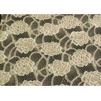 Buy cheap Eco-Friendly Brushed Lace Fabric Yellow , Garment Trimming Anti-Static Material CY-LQ0039 product