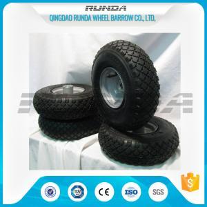 Buy cheap Small Size Pneumatic Rubber Wheels , Pneumatic Swivel Caster Wheels136KG In 2PR product
