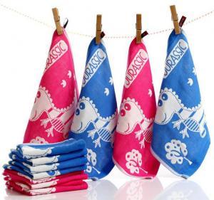 Buy cheap Cotton 4 Layers Jacquard Gauze Scarf Skin Water Child Towel 12 Piece Per Set product