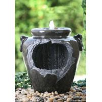 "China Chinese Style Jar Asian Water Fountains , Outdoor Cascading Water Fountains 18"" wholesale"