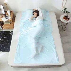 Buy cheap Silk Material Rectangular Sleeping Bag Liner Portable With Pillow Pocket product