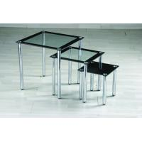 Buy cheap chromed-plated/tempered glass tea table  A008 product