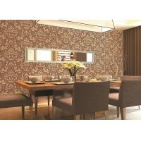 Buy cheap Beige / Yellow / Brick-red 3D Effect Deep Embossed Floral Wallpaper For Bedroom Background product
