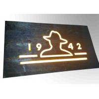 Buy cheap Custom Resin Illuminated Wooden Signs Wall Mounted Decoration Bar Sign Used product