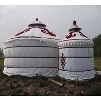 Buy cheap Wind Resistant Mongolian Yurt Tent With Circular Galvanized Steel Pipe Bracket product