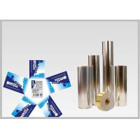 Vacuum Metallic Foil Paper Single Sided Coating , Easy To Wash Away From Bottles For Glass Bottle labels