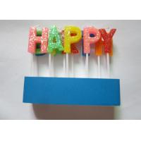 China Shining Rainbow Letter Birthday Candles 13 Pcs / 16.6G With Topper Picks wholesale