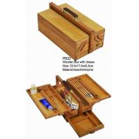 Buy cheap Commecial Artist Storage Box With Drawer , Wooden Craft Storage Box For Paintings product