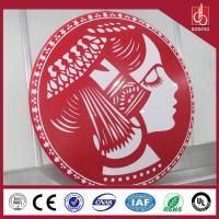 Buy cheap Round high quality 3D moulding acrylic light led box; sound standard for sales product